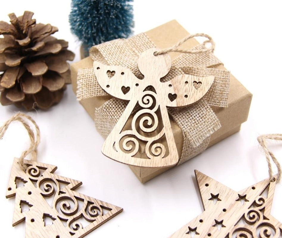 Wooden Ornaments Christmas Home decorations