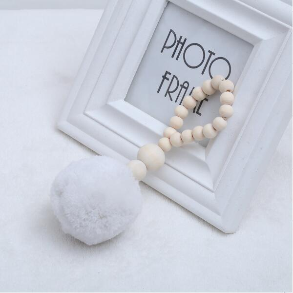 Nordic Wooden Beads Wall Decor/ Photography Props/ Curtain Holder