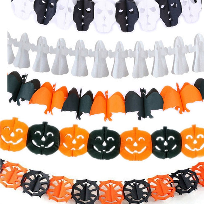 Halloween Paper Streamers Haunted House Prop Decorations