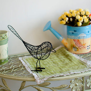 Metal Bird Figurines Home Decorations