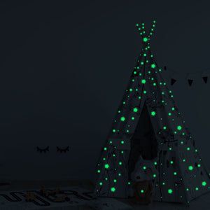 Stars Glow In The Dark Wall Stickers Fluorescent Wall Stickers