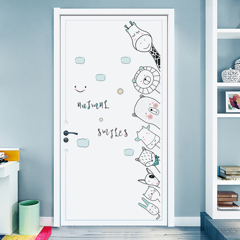 Animal Door/ Corner Wall Stickers Kids Room Decor; wall decor
