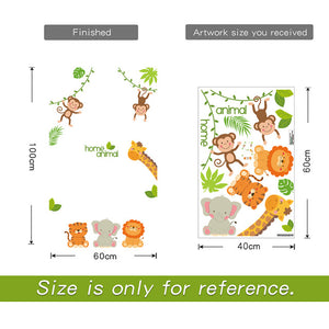 """Animal Smile"" Door/ Corner Wall Stickers"