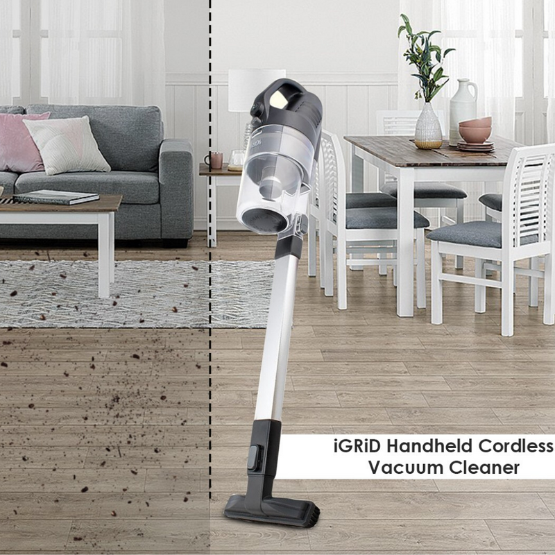 iGRiD Handheld Cordless Vacuum Cleaner Home/Car/Carpet/Bed/Sofa (Black) | BL1020-B |