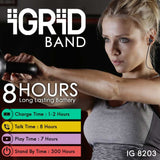 iGRiD Band Bluetooth Wireless in Ear Sports Headphones with Dual Drivers (Black) |IG-8203|