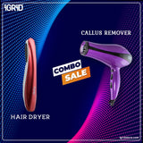 iGRiD Combo Kit- Hair dryer (2200 W) and callus remover (Pedicure)