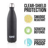 iGRiD Double Wall Stainless Steel Leak-Proof Hot and Cold Water Bottle 1000 ML | Black |