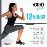iGRiD Duet Wireless in-Ear Bluetooth Earphones for Sports (Black) | IG-8204 |