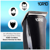 iGRiD Cordless Beard  trimmer For Men| hair trimmer | quick charge | indicator | advanced shaving system | IG-1080 |