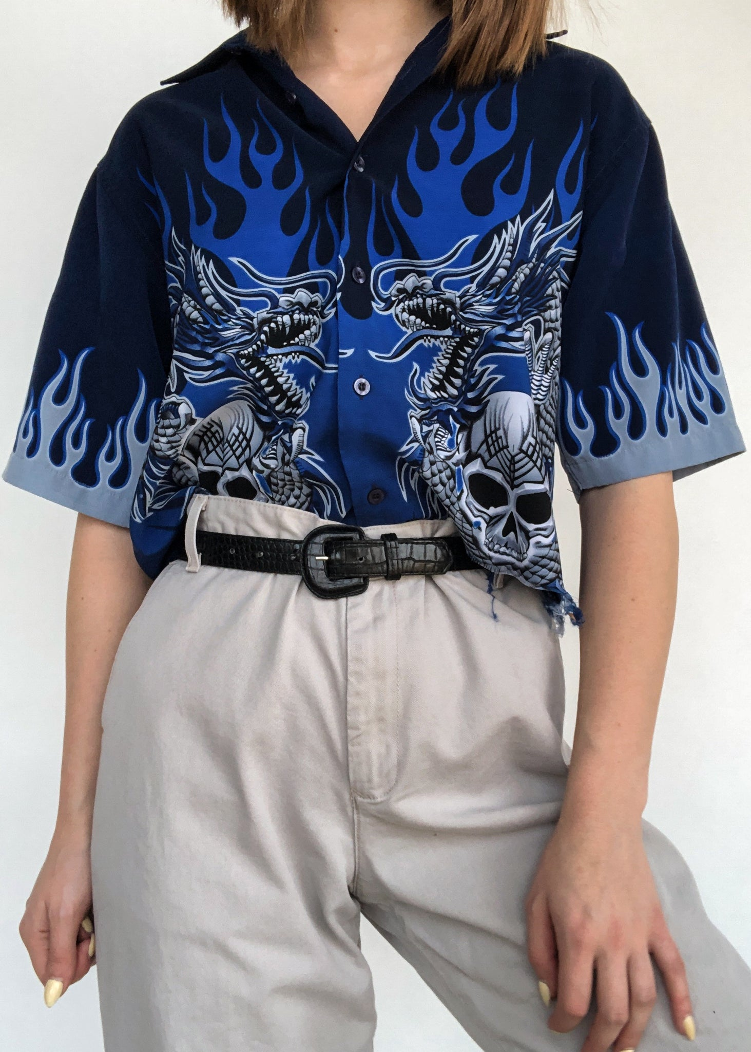 Ice Dragon Button Down