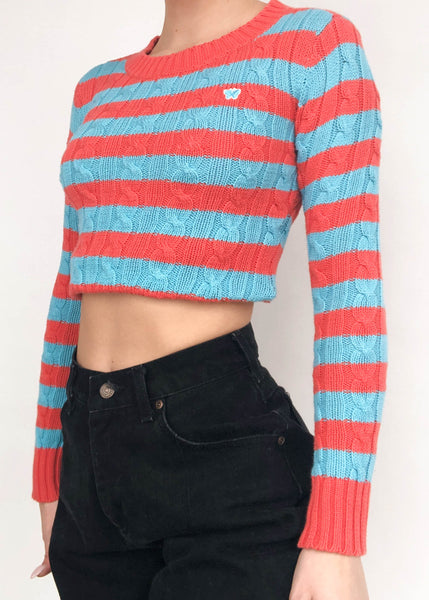 Butterfly Stripe Cable Knit