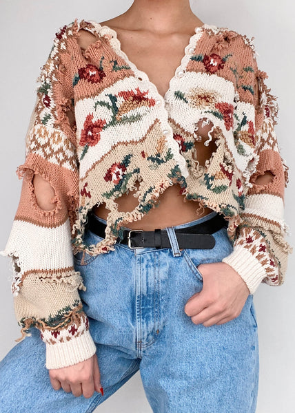Rosy Shred Sweater