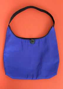 Button Blue Mini Bag