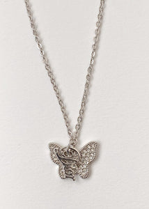 Dior Butterfly Charm Necklace