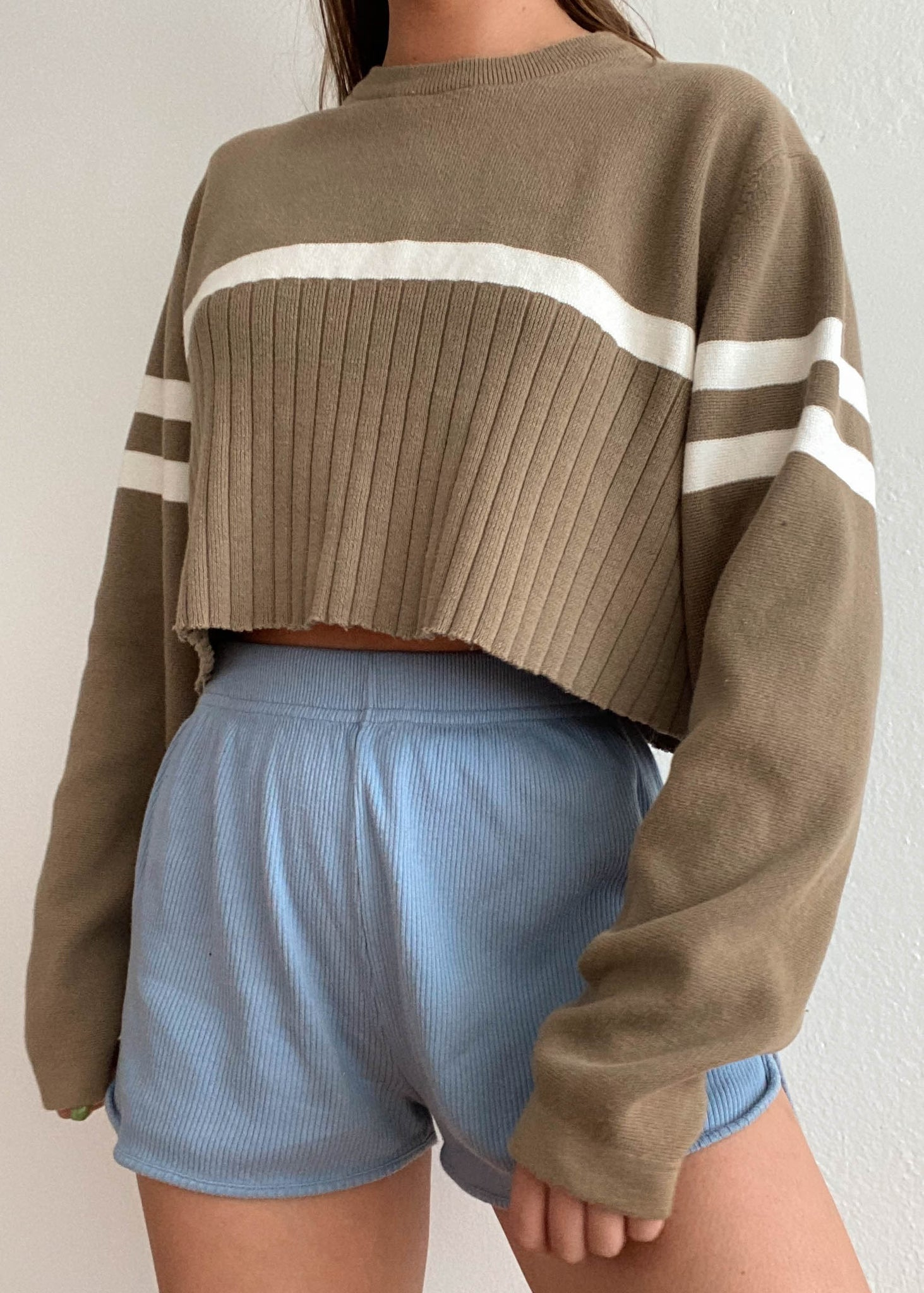 Taupe Knit Pullover