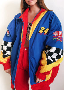 Primary Checkered Nascar Puffer