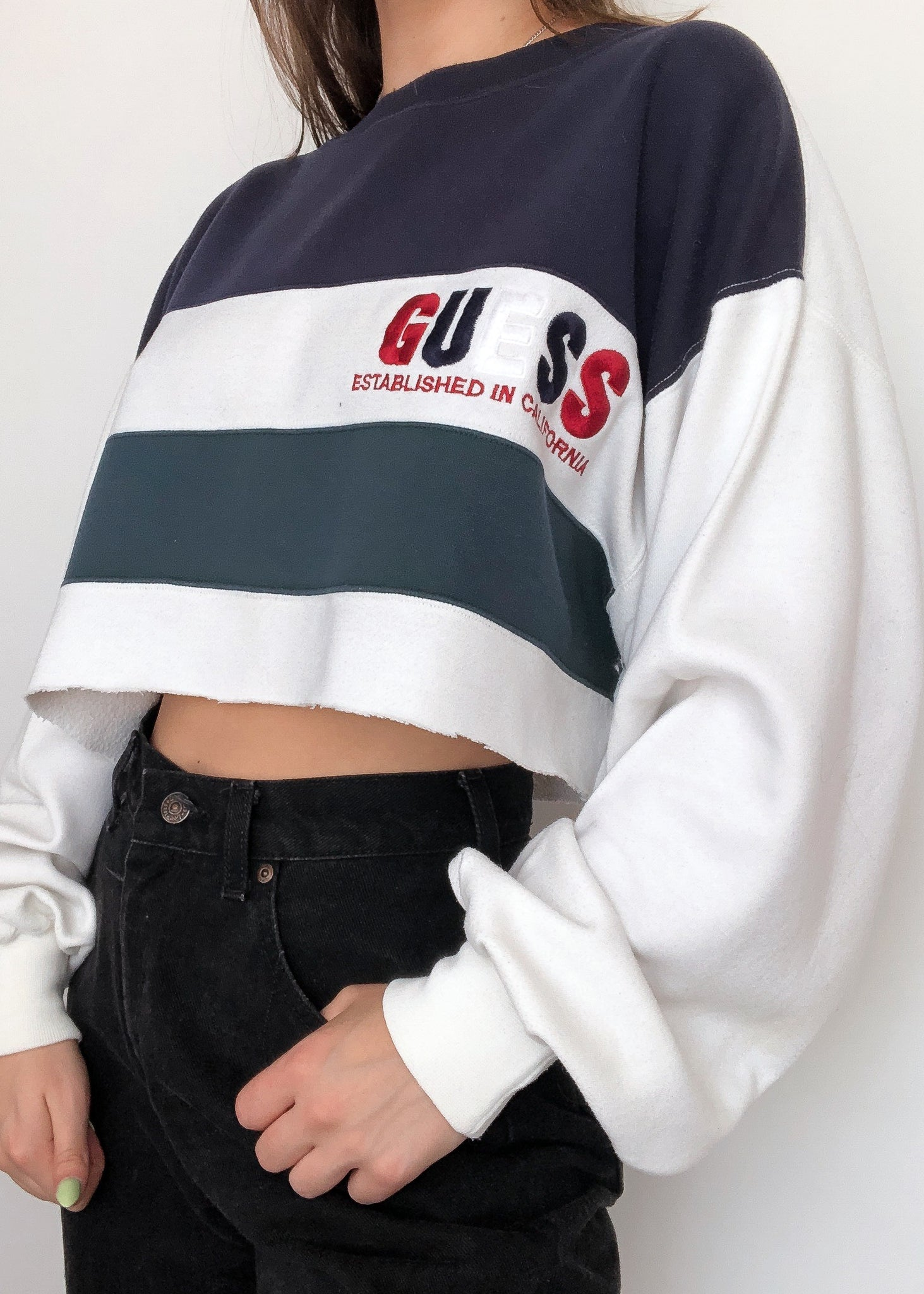 Colorblock Guess Crew