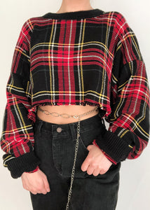 Scotty Plaid Sweater