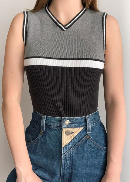 90's Sporty Sweater Vest