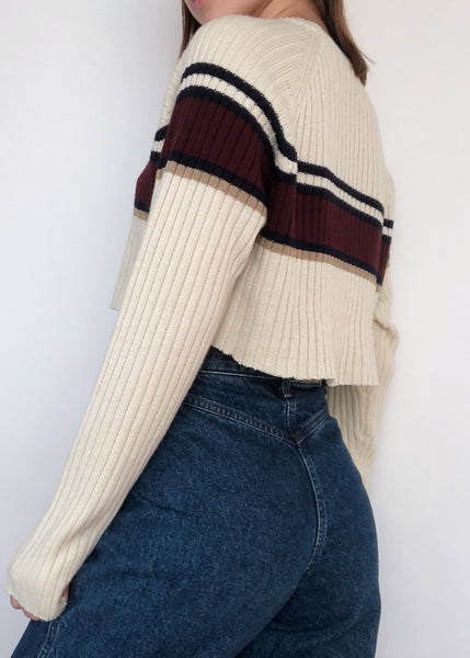 Varsity Ribbed Sweater