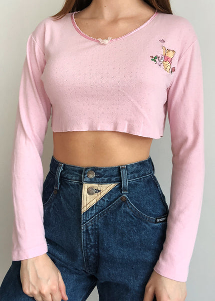 Pink Pooh Baby Top