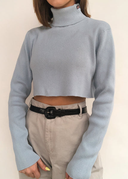 Baby Blue RL Turtleneck