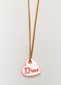 Dior Heart Charm Necklace
