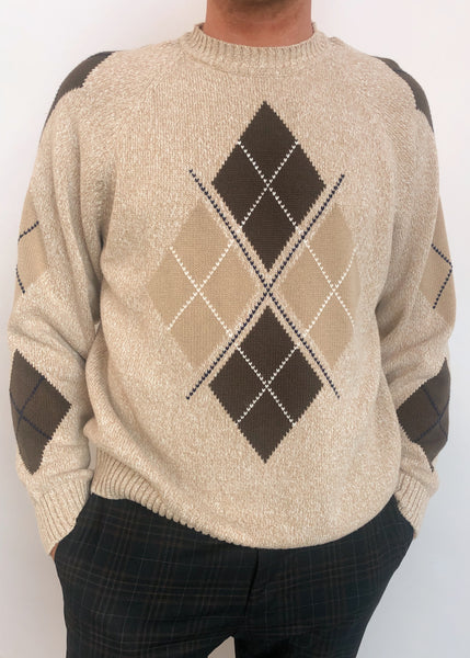 Oatmeal Argyle Sweater