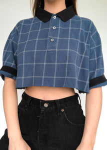 Blue Grid Polo