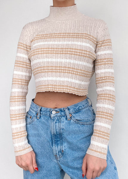 Candace Striped Cable Knit
