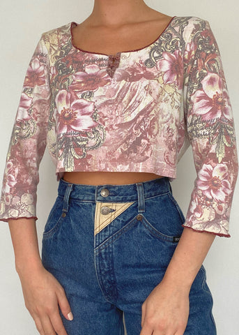 Rosette ¾ Sleeve Top