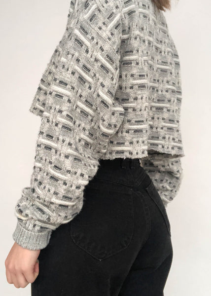 Gray Weave Sweater