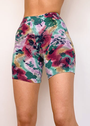 Watercolor Bike Shorts