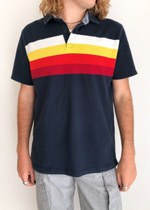 Sunset Stripe Polo