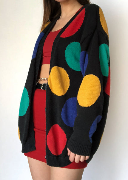 90's Spotted Cardi