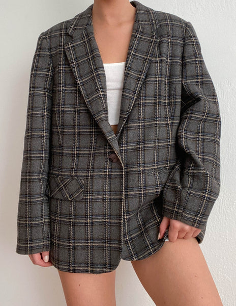 Lewis Plaid Blazer
