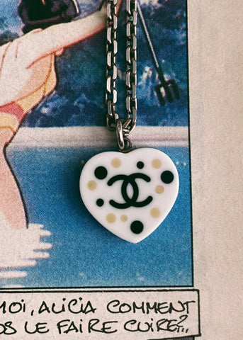 Chanel Reversible Heart Necklace