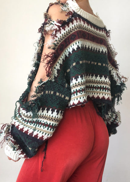 Forest Shred Sweater