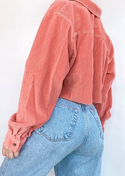 Poppy Corduroy Button Down