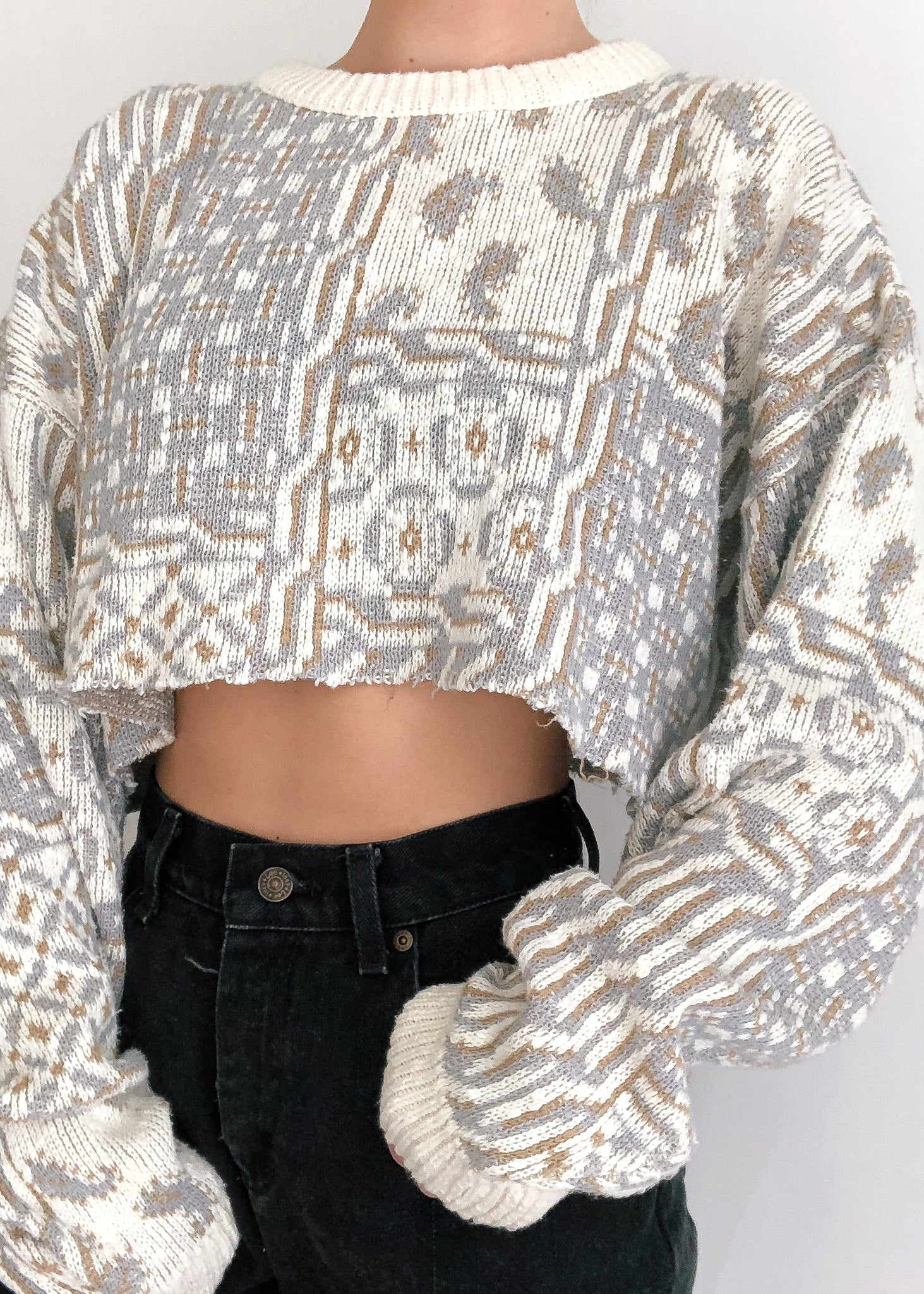 Vintage Dior Crop Sweater