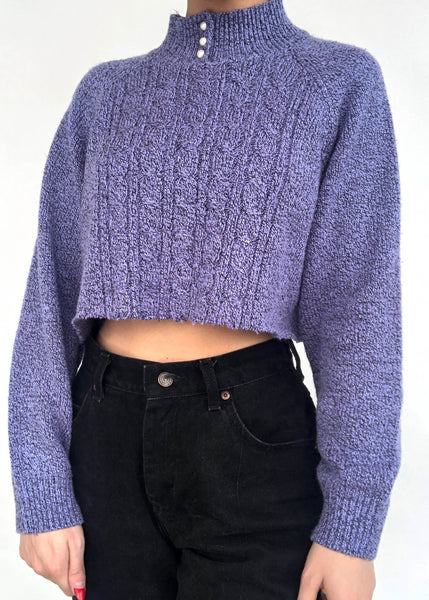 Lilac Pearl Cable Knit