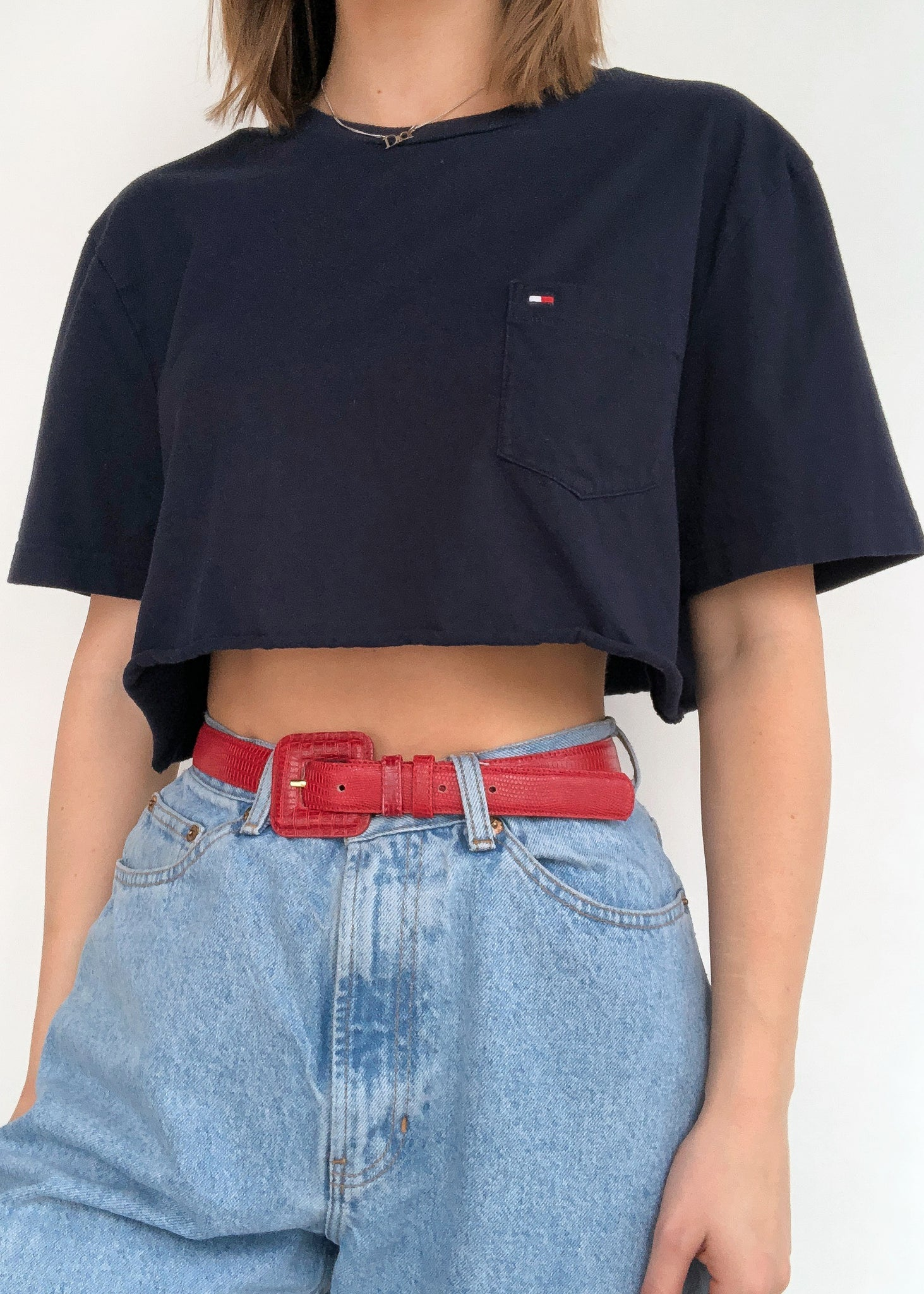 Navy Tommy Pocket Tee