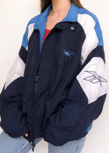 Blue n White Reebok Windbreaker