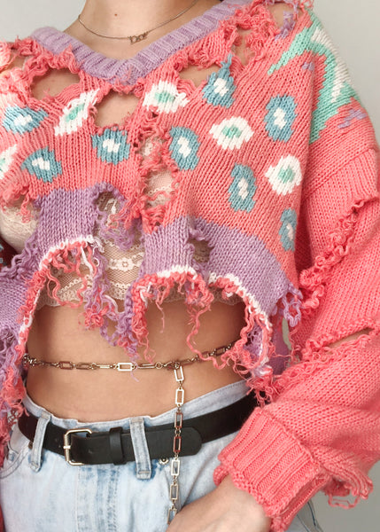 Pastel Shred Sweater