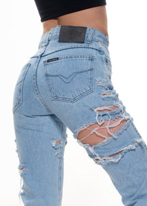 DIstressed Harley Jeans