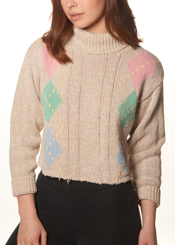 Pastel Argyle Sweater