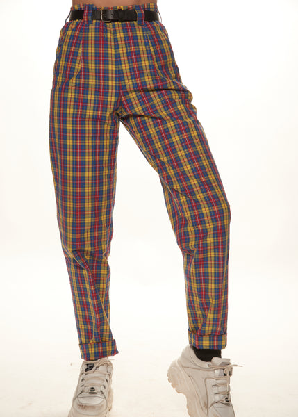 Primary Plaid Trousers