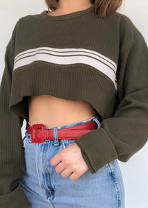 Olive Sk8 Sweater