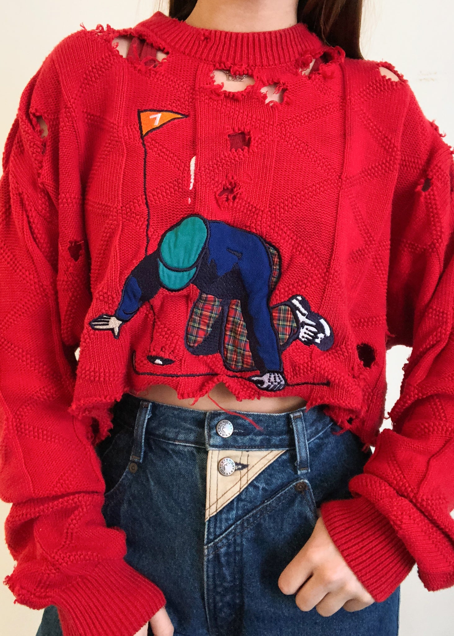 Tripping Over Cherries Sweater