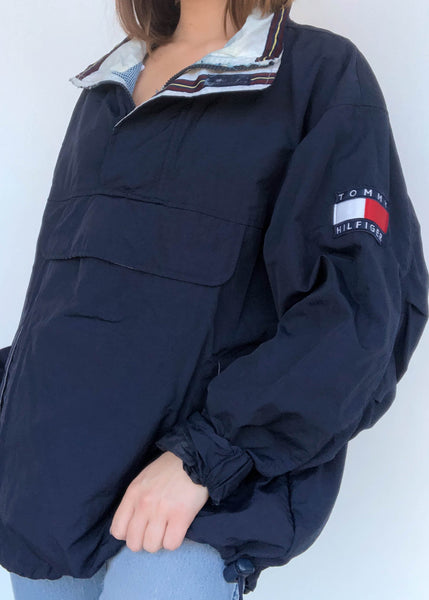 Navy Tommy Windbreaker